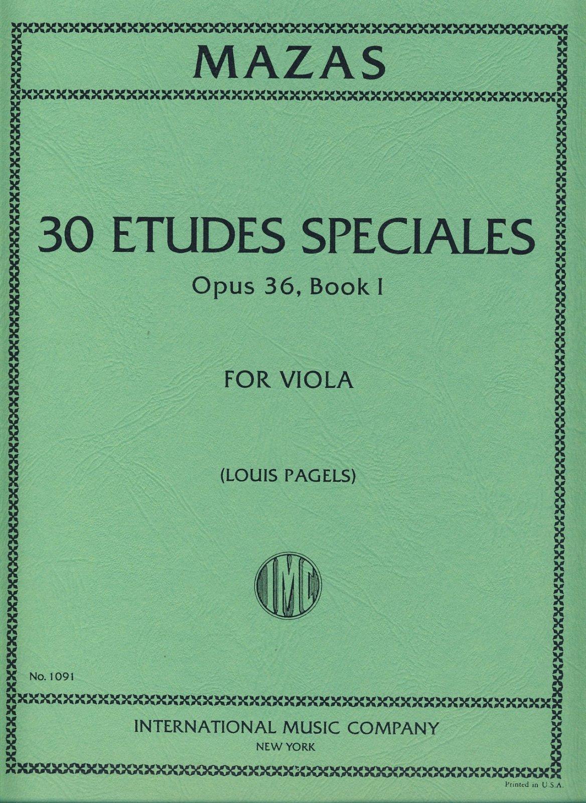 Mazas: Etudes Speciales Op. 36 Book 1 Ed. Pagels