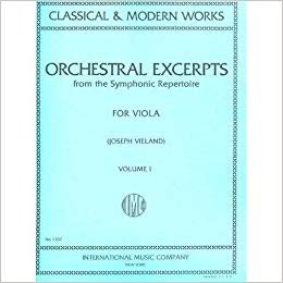 Orchestral Excerpts for Viola Vol. 1