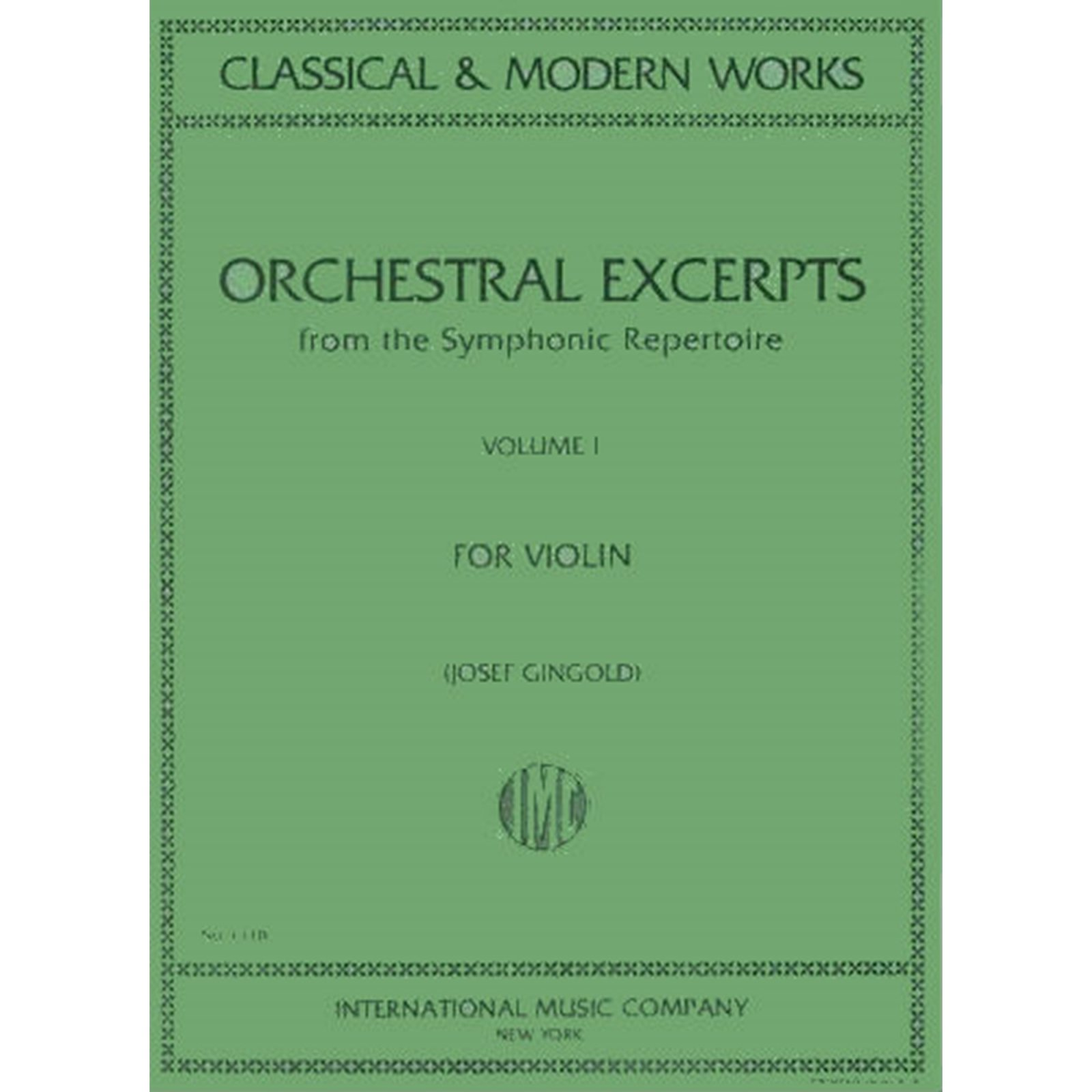 Orchestral Excerpts Vol. 1 Ed. Gingold
