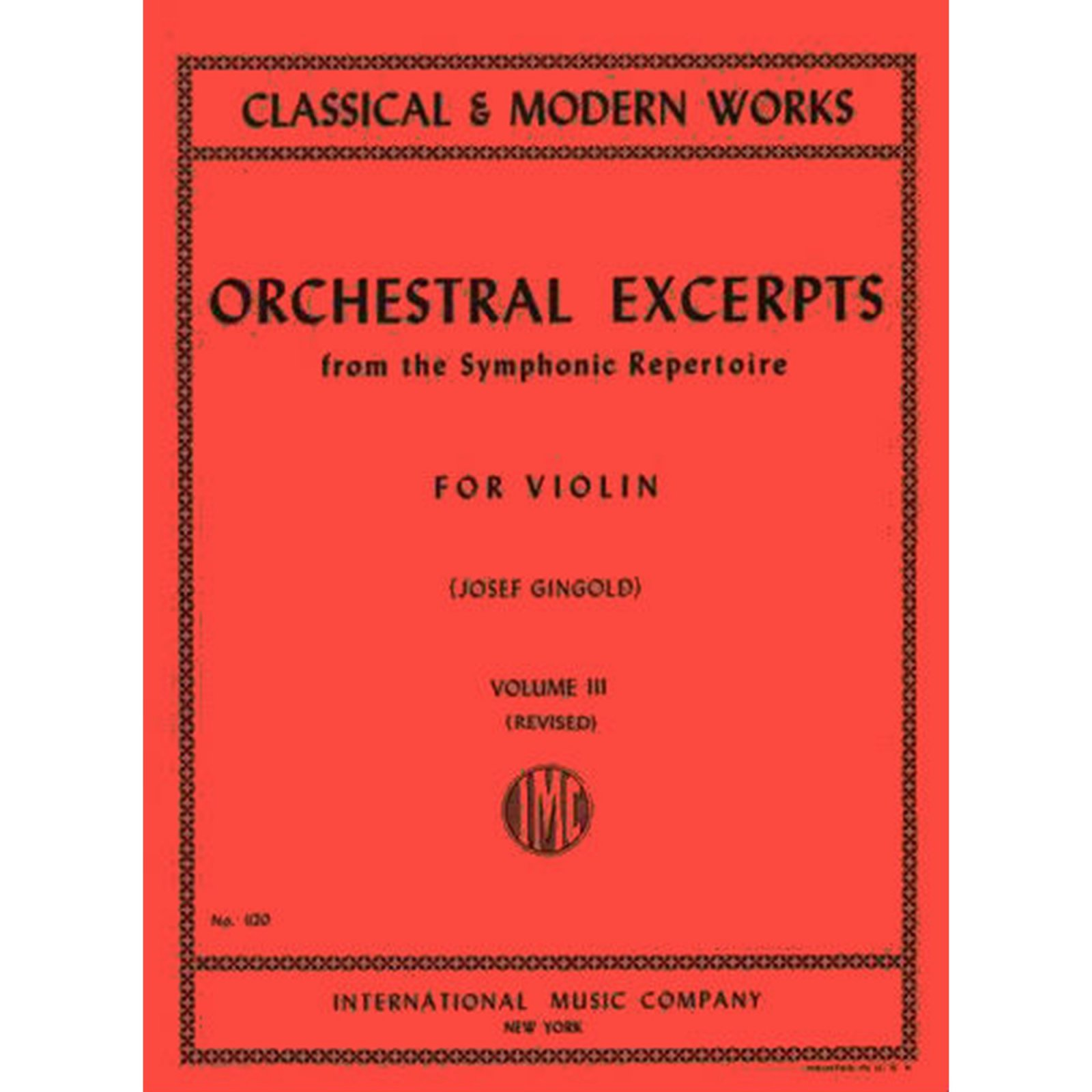 Orchestral Excerpts for Violin, Vol. 3, Ed. Gingold (International)