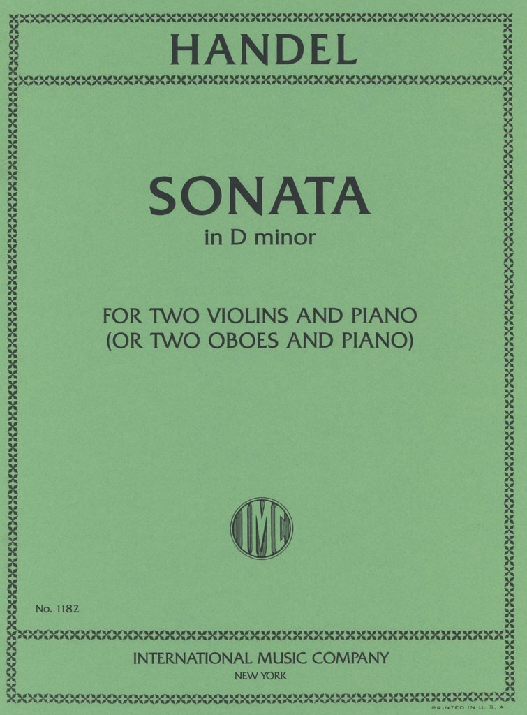Handel: Sonata In D Minor
