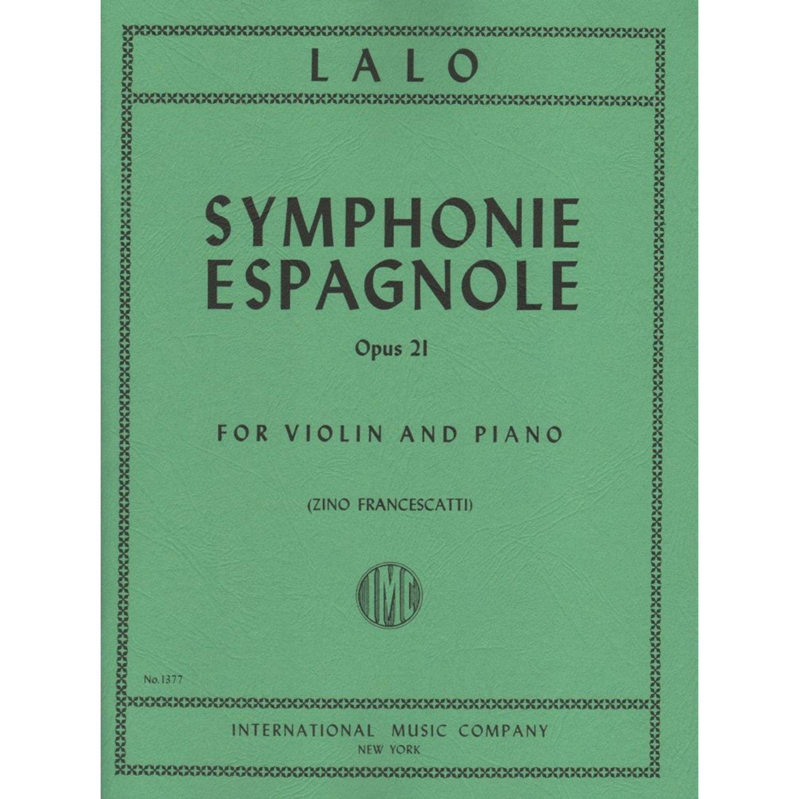 Lalo: Symphonie Espagnole Op. 21 Ed. Francescatti