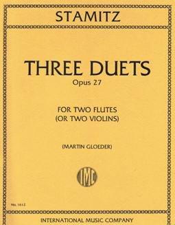 Stamitz: Three Duets Op. 27 Ed. Gloeder