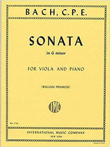C.P.E Bach: Sonata In G minor Ed. Primrose