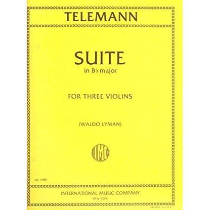 Telemann: Suite in Bb major Ed. Lyman