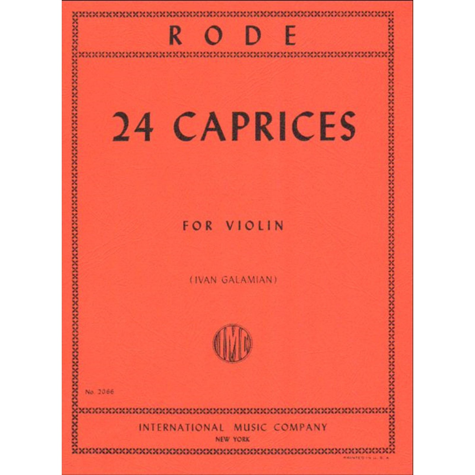 Rode: 24 Caprices Ed. Galamian