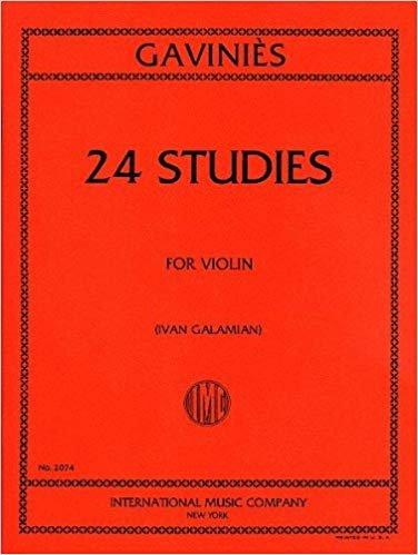 Gavinies: 24 Studies Ed. Galamian