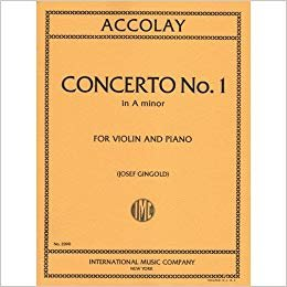 Accolay: Concerto No.1 In A minor Ed. Gingold (International)