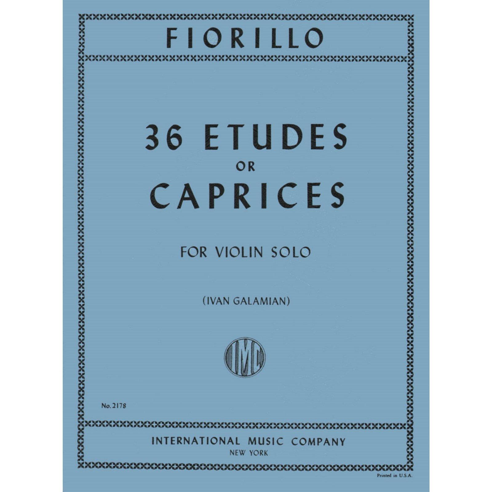 Fiorillo: 36 Etudes Or Caprices Ed. Galamian