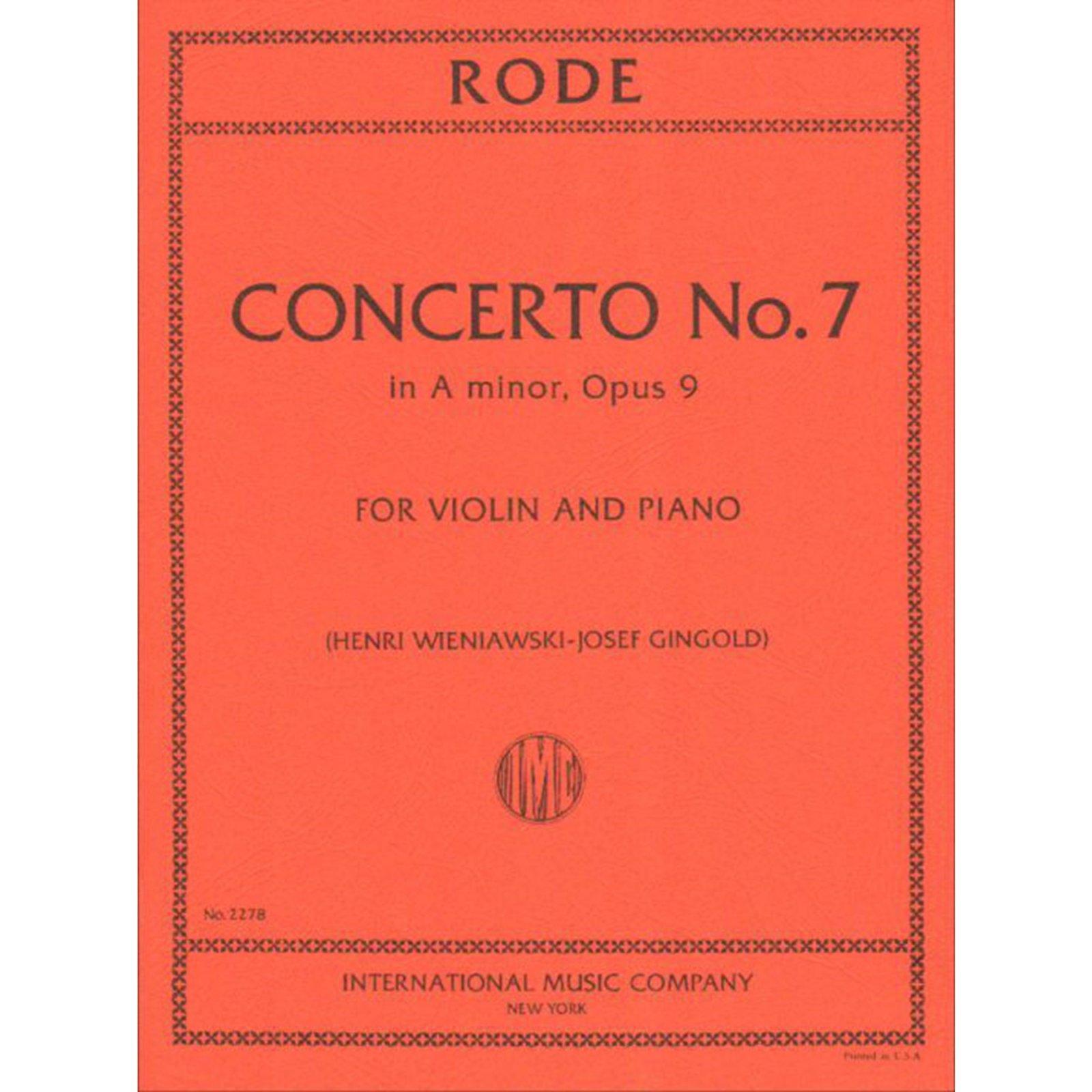 Rode: Concerto No.7 In A minor Op. 9