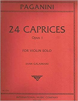 Paganini: 24 Caprices Op.1 Ed. Galamian
