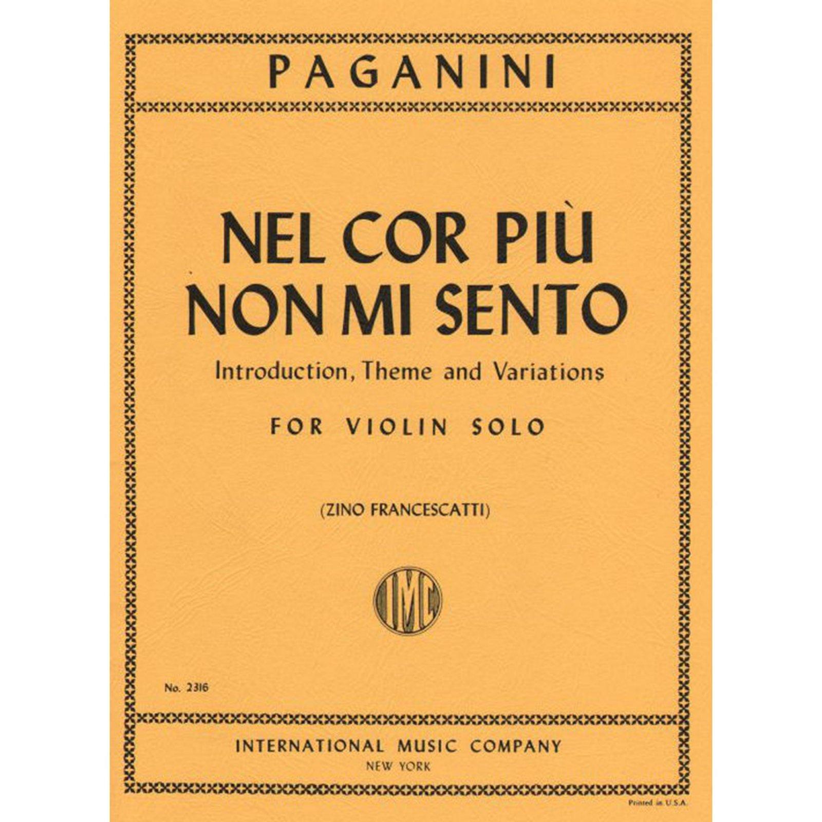 Paganini: Nel Cor Piu Non Mi Sento Ed. Francescatti
