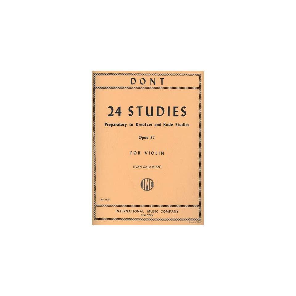 Dont: 24 Studies Op.37 Ed. Galamian