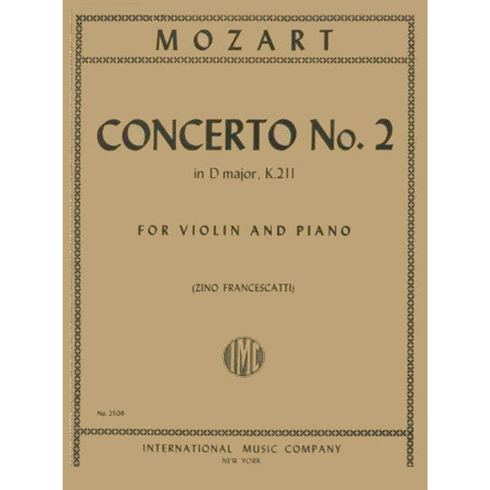 Mozart: Concerto No. 2 In D Major K. 211 Ed. Francescatti