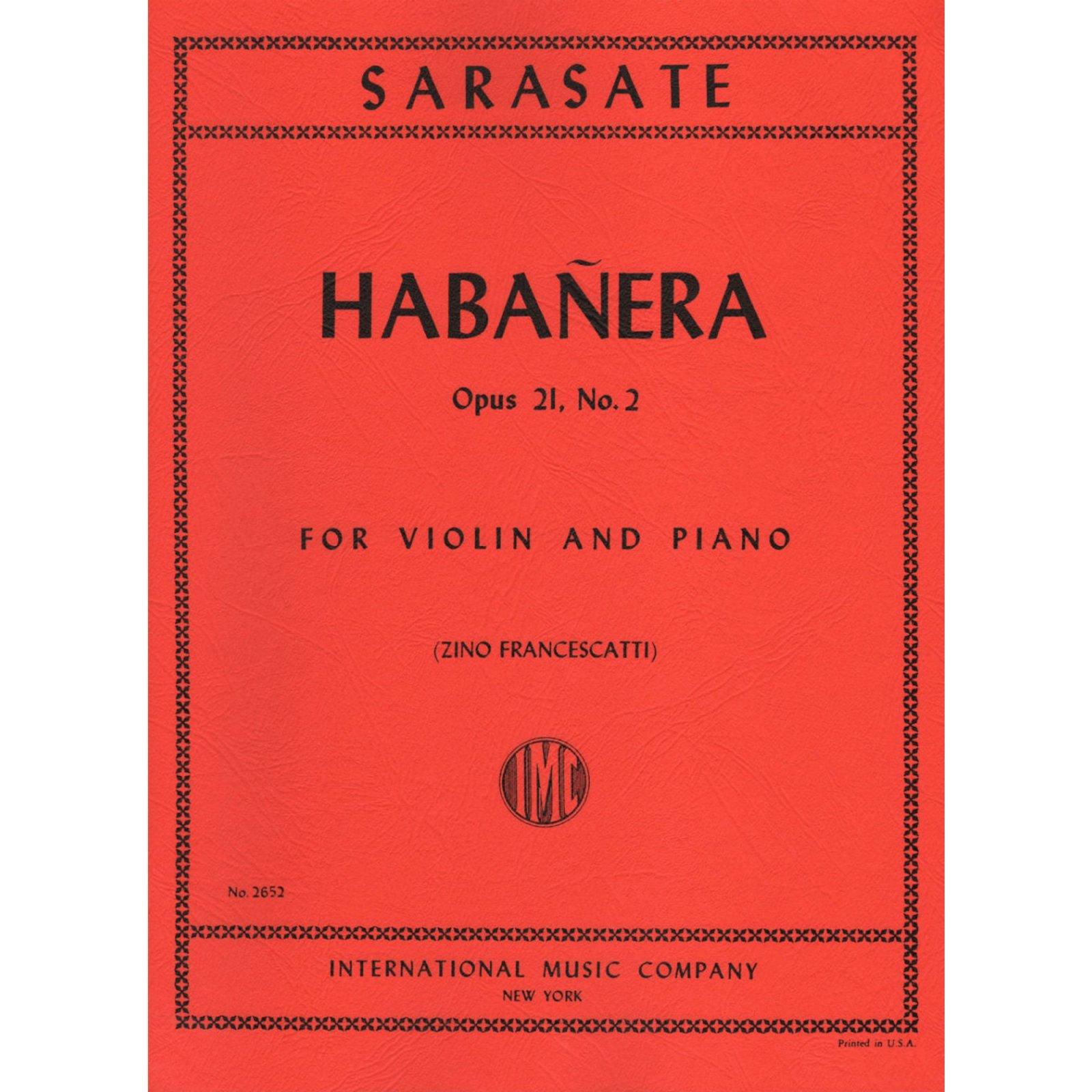 Sarasate: Habanera Op. 21 No.2 Ed. Francescatti