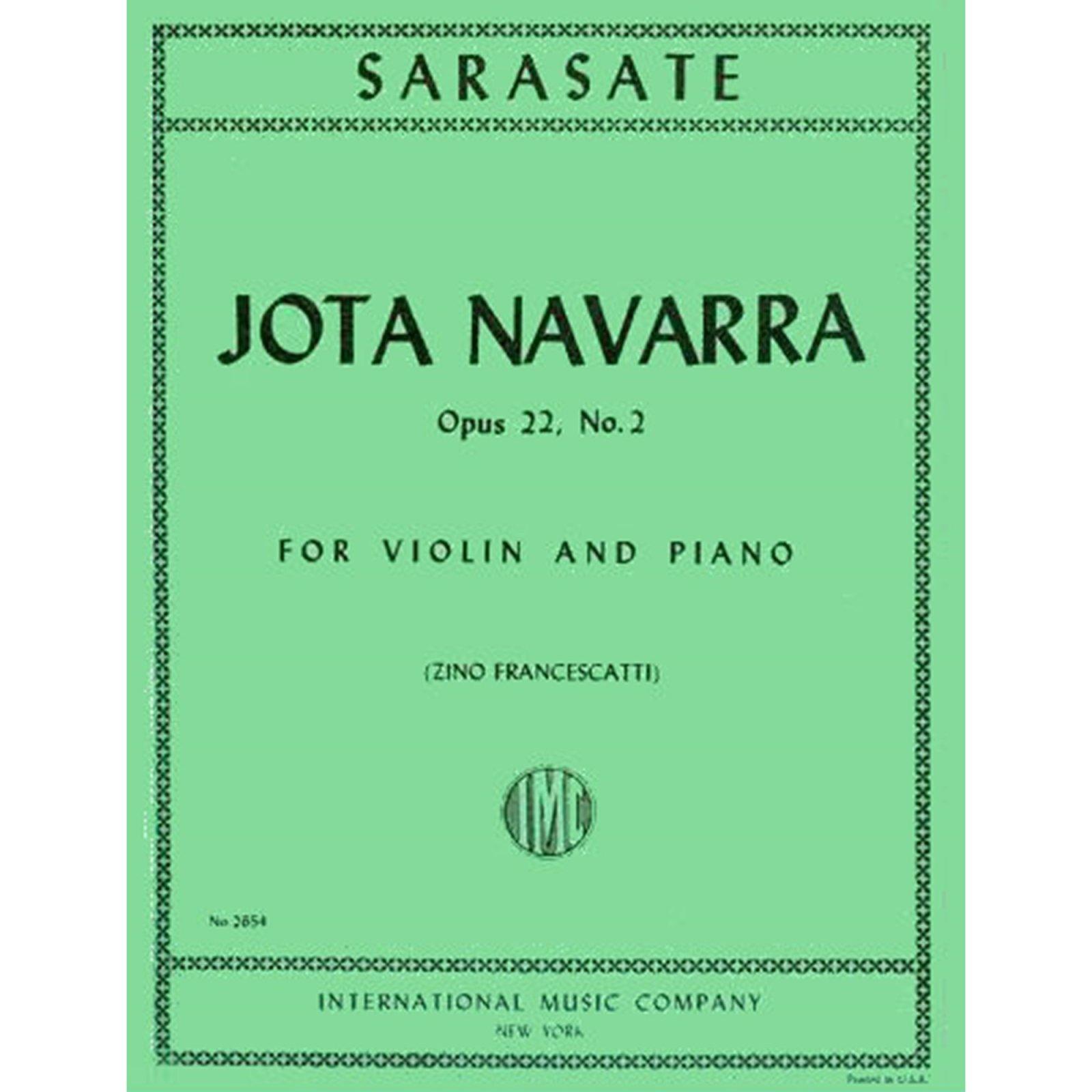 Sarasate: Jota Navarra Op. 22 No.2