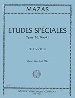 Mazas: Etudes Speciales Op. 36 No.1 Ed. Galamian