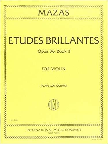Mazas: Etudes Brillantes Op.36 No. 2 Ed. Galamian