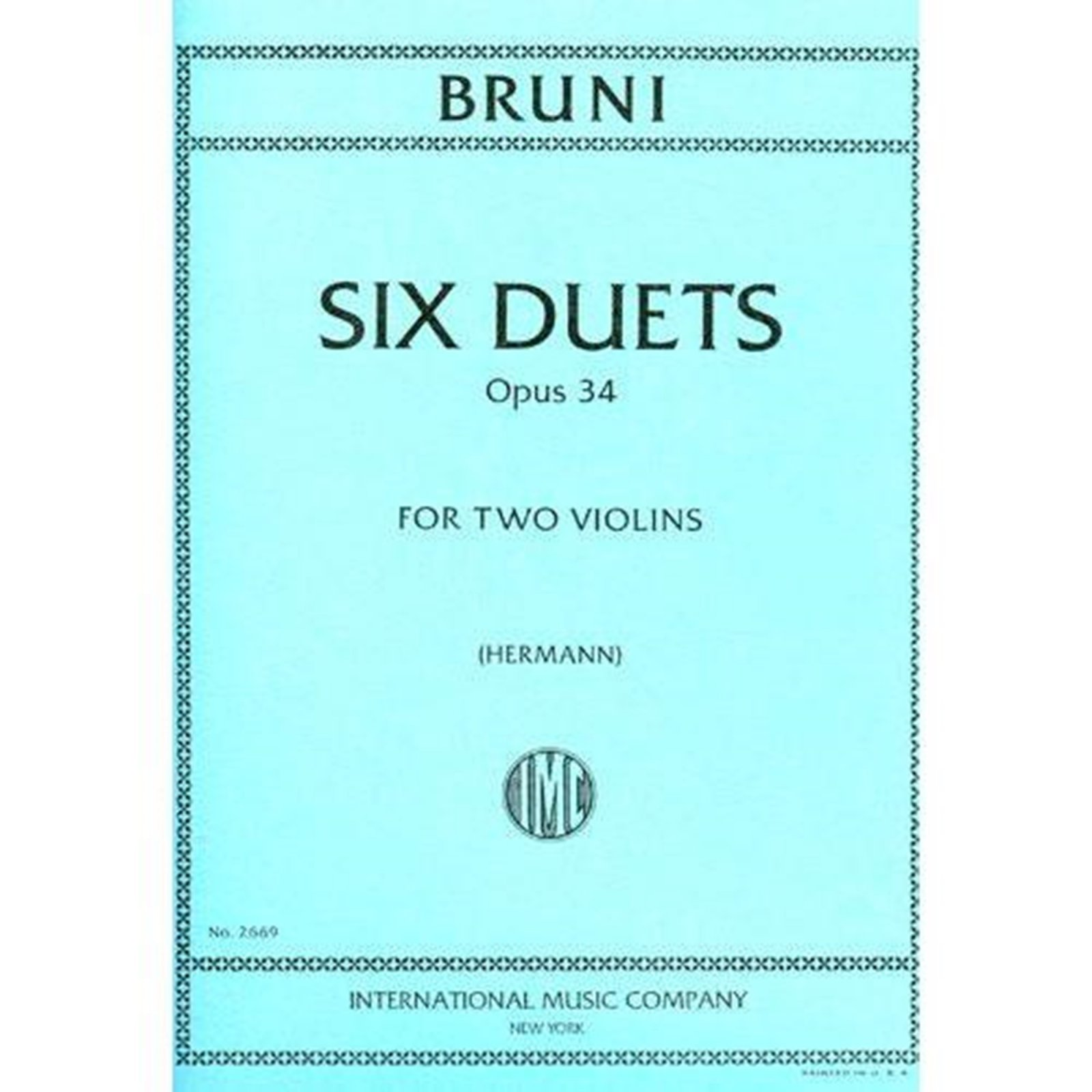 Bruni: Six Easy Duets Op. 34 Ed. Hermann