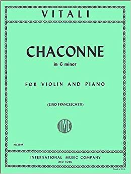 Vitali: Chaconne In G minor Ed. Charlier- Francescatti
