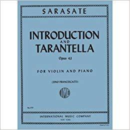 Sarasate: Introduction And Tarantella Op. 43 Ed. Francescatti