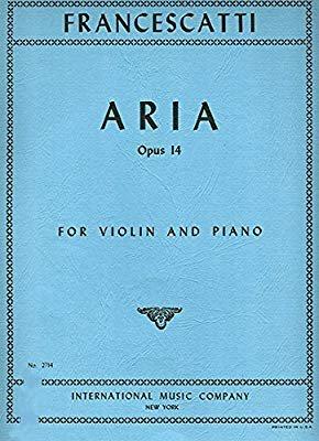 Francescatti: Aria Op. 14