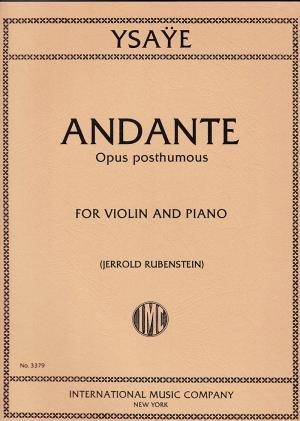Ysaye: Andante Op. Posthumous Ed. Rubenstein