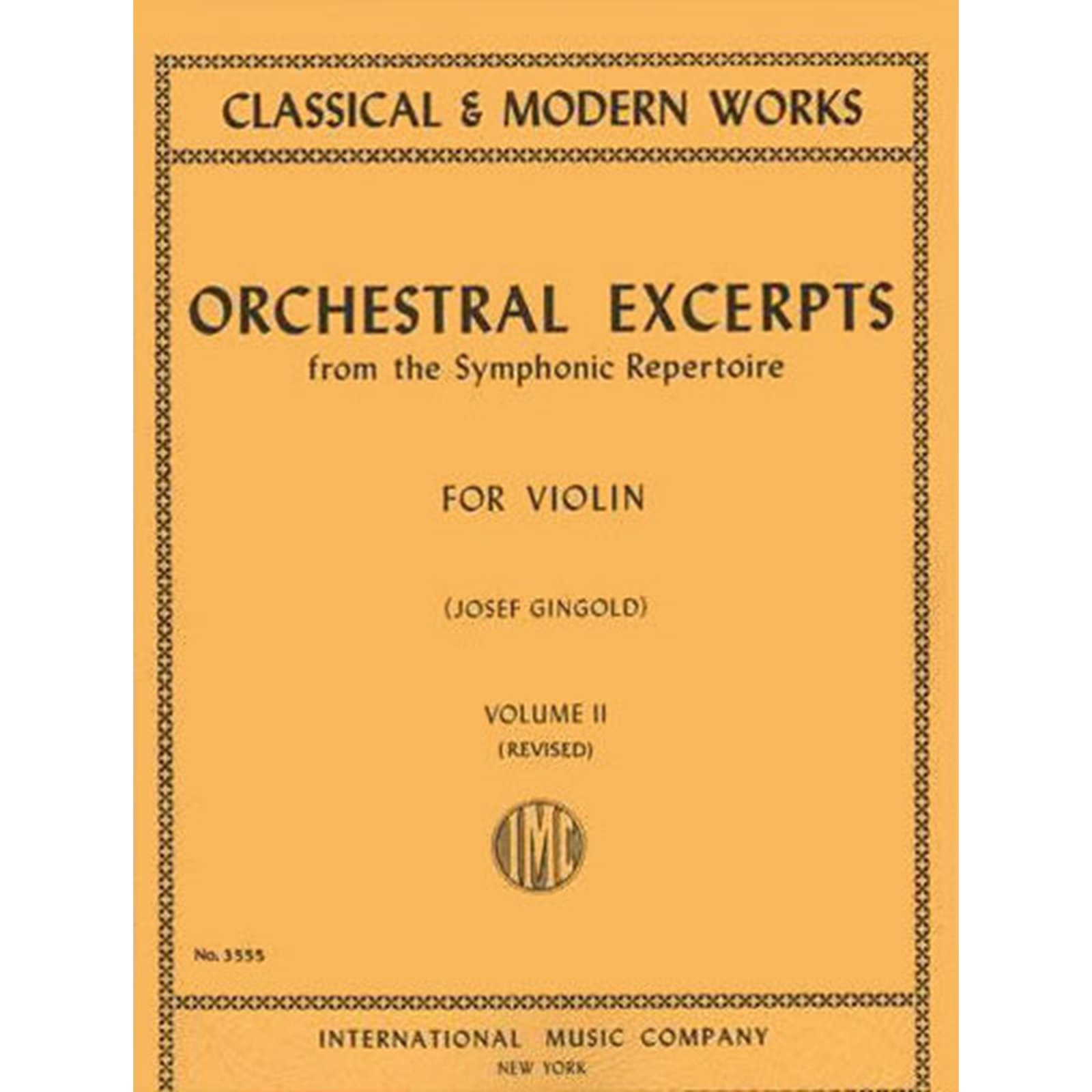 Orchestral Excerpts for Violin, Vol. 2, Ed. Gingold (International)
