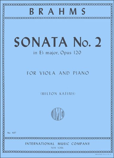 Brahms: Sonata No.2 In Eb major Op.120 Ed. Katims