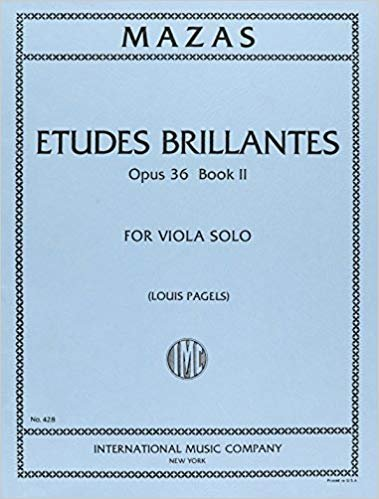 Mazas: Etudes Brillantes Op. 36 Book 2 Ed. Pagels