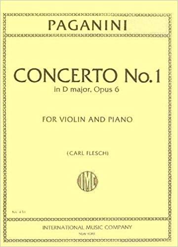 Paganini: Concerto No. 1 In D major Op. 6 Ed. Flesch