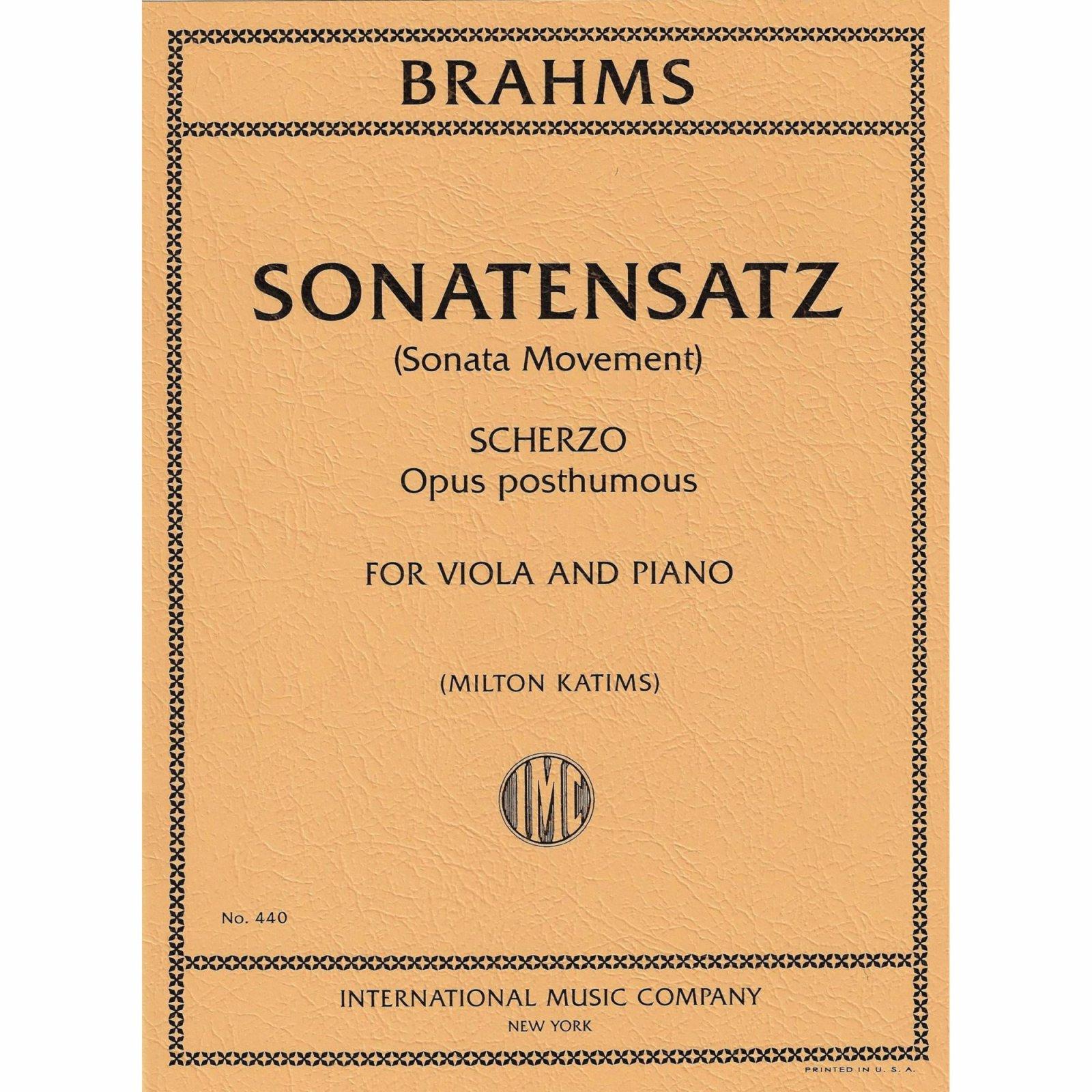 Brahms: Sonatensatz Ed. Katims