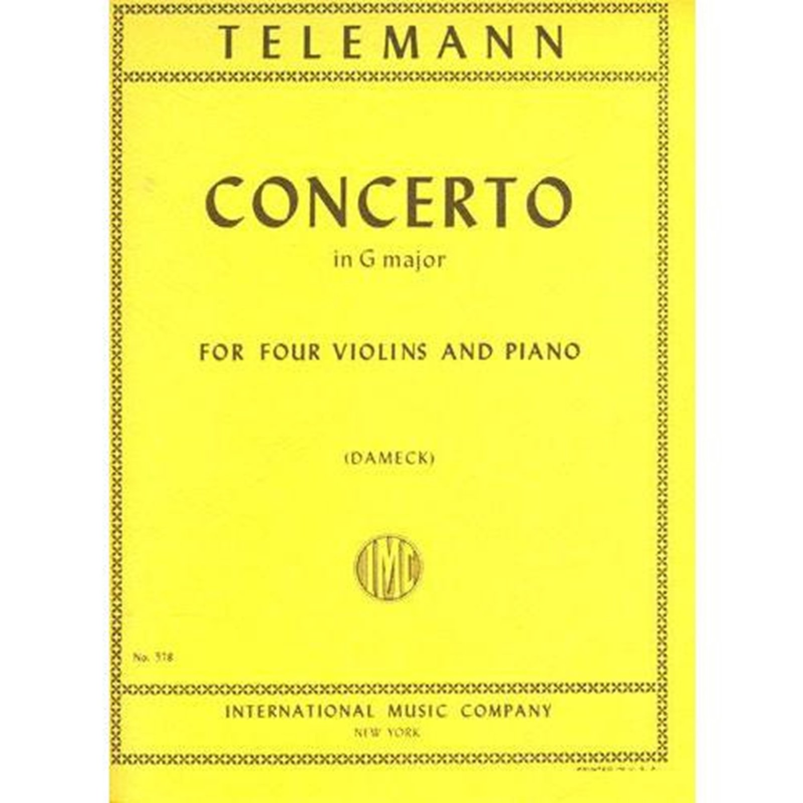 Telemann: Concerto In G major Ed. Dameck