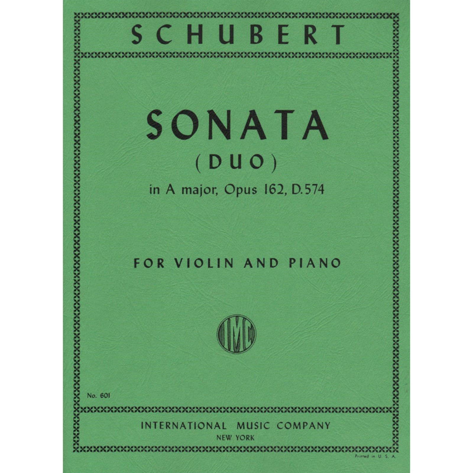 Schubert: Sonata (Duo) In A major Op. 162