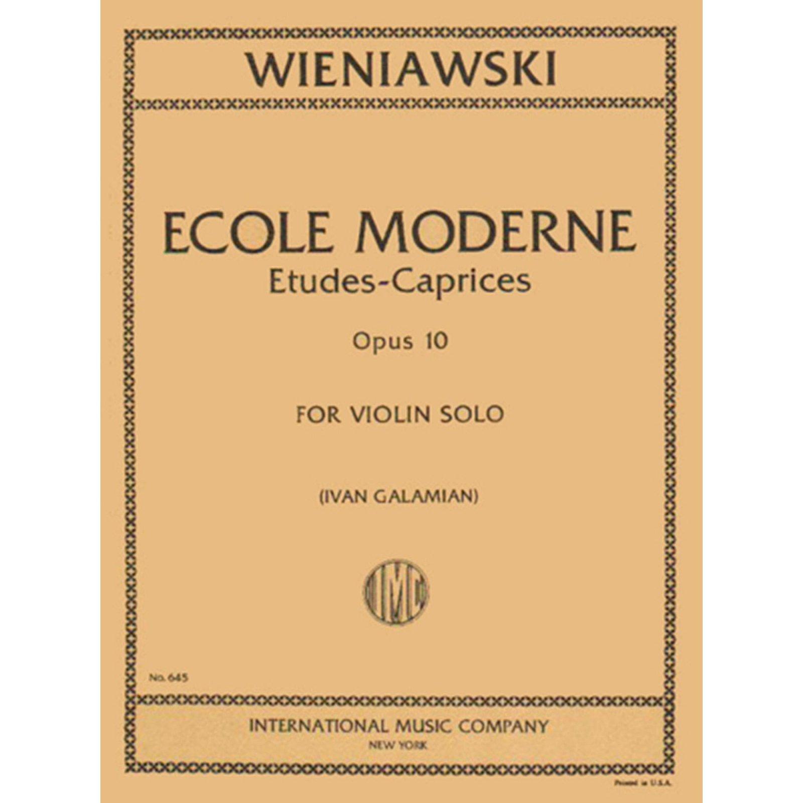 Wieniawski: Ecole Moderne, Op.10, Ed. Galamian (International)