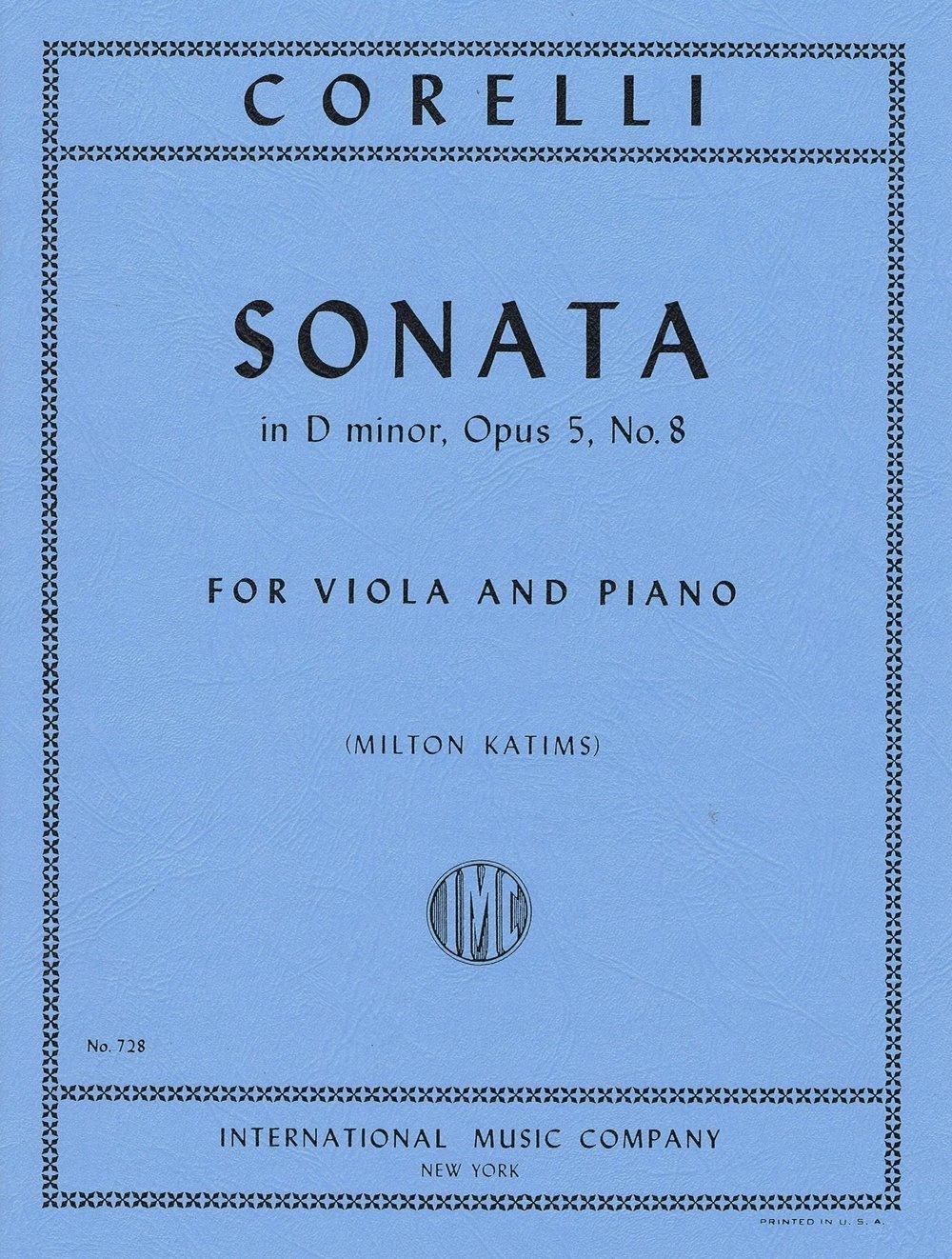 Corelli: Sonata In D Op. 5 No.8 Ed. Katims