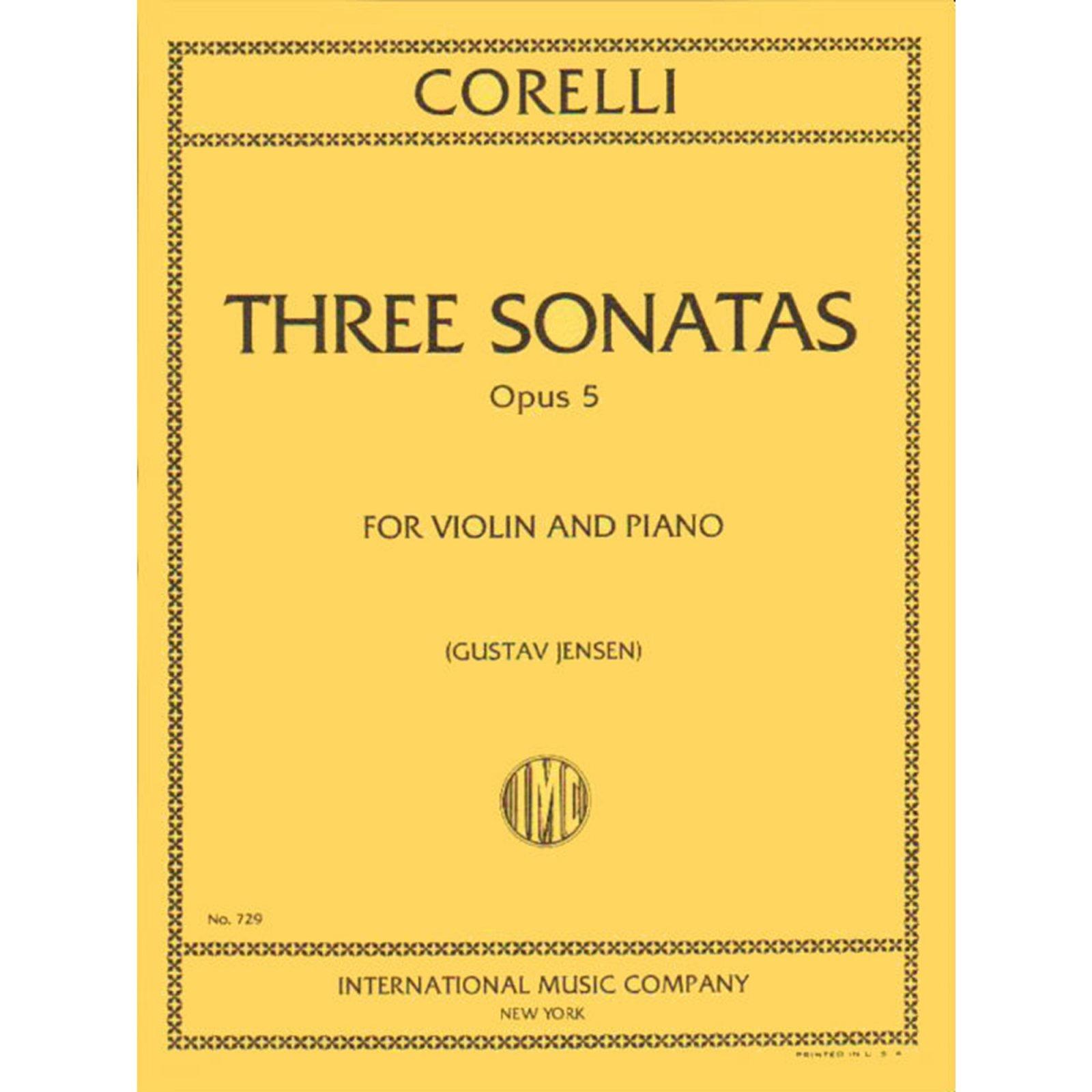 Corelli: 3 Selected Sonatas From Op. 5 Ed. Jensen