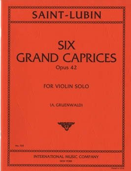Saint-Lubin: Six Grand Caprices Op.42