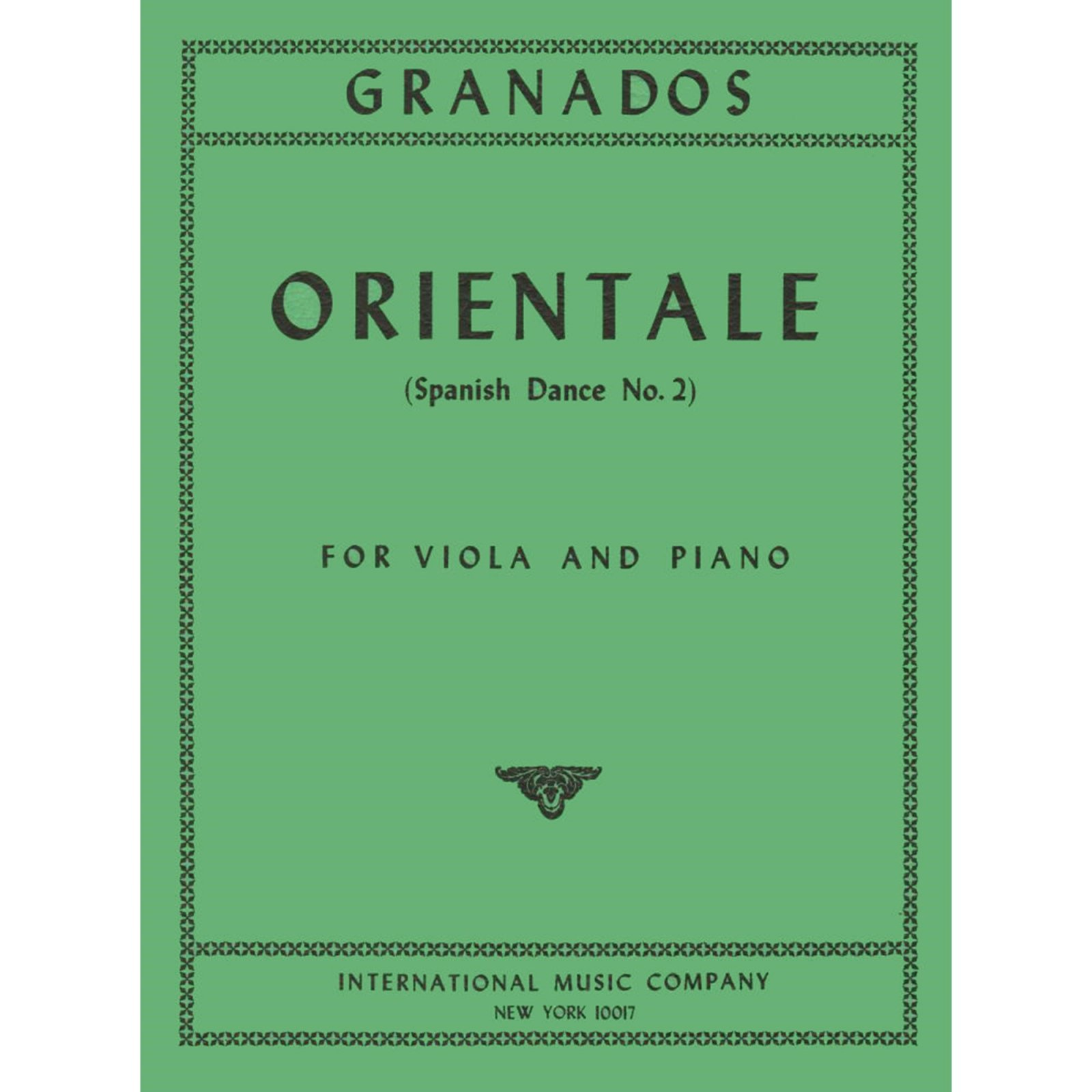 Granados: Orientale (From Spanish Dance No.2) for Viola and Piano