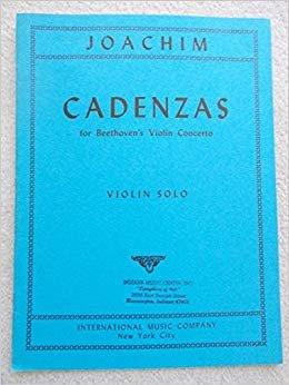 Joachim: Cadenzas Beethoven Concerto