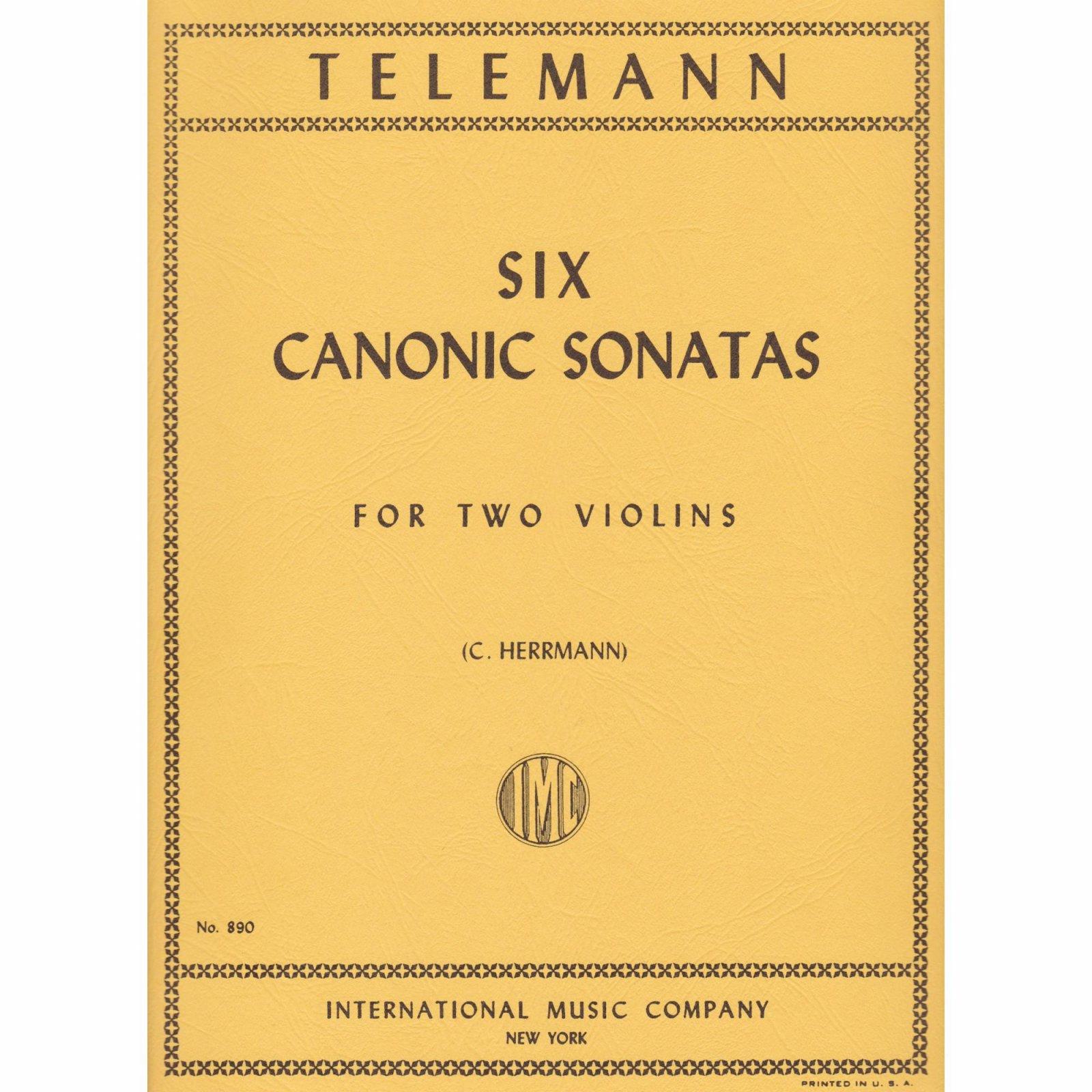 Telemann: Six Canonic Sonatas Ed. Herrmann