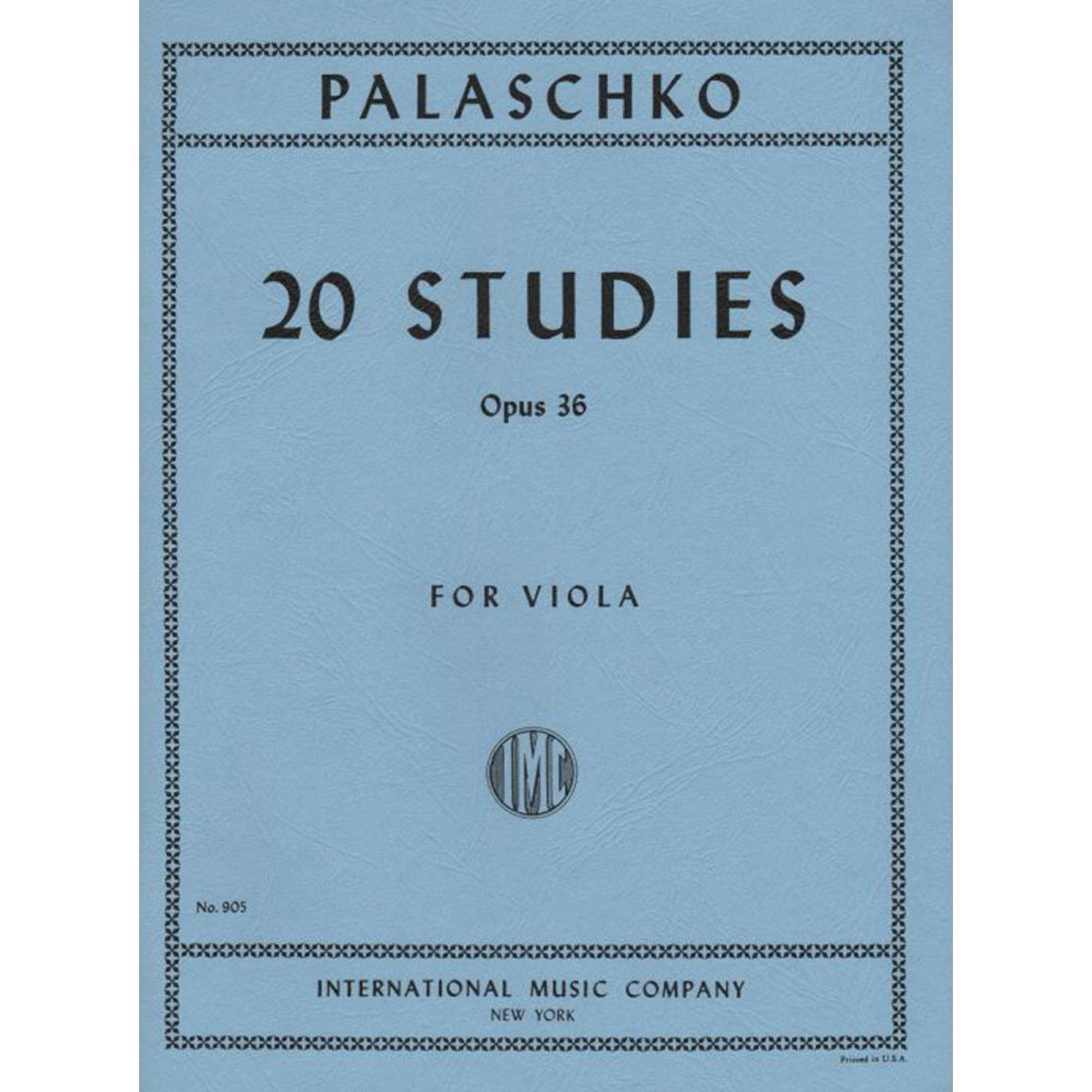 Palaschko: 20 Studies Op. 36