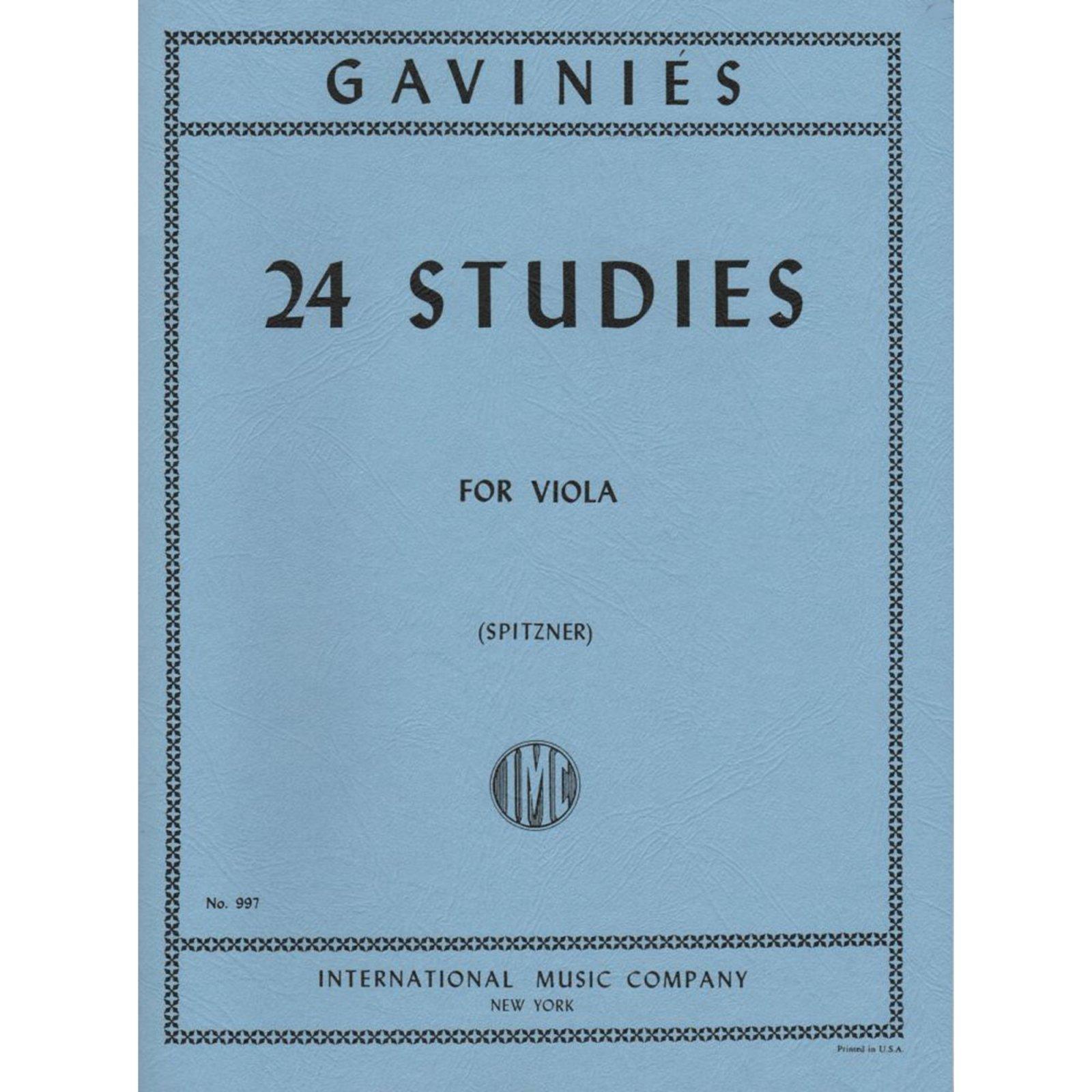 Gavinies: 24 Studies Ed. Spitzner