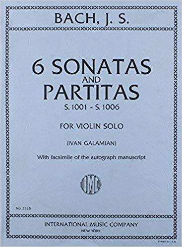 JS Bach: Six Sonatas And Partitas, S.1001-1006 ed. Galamian