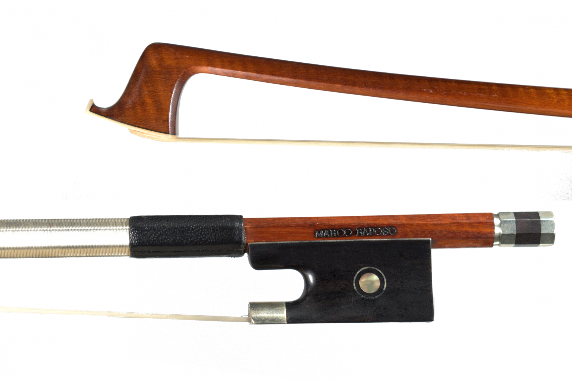 Marco Raposo Violin Bow, Nickel Mounted