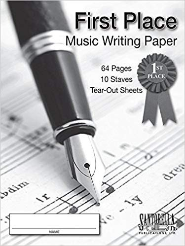 First Place Music Writing Paper- 10 Stave