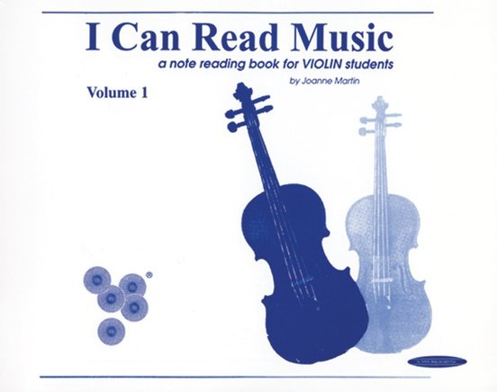 I Can Read Music, a note reading book for Violin students, by Joanne Martin