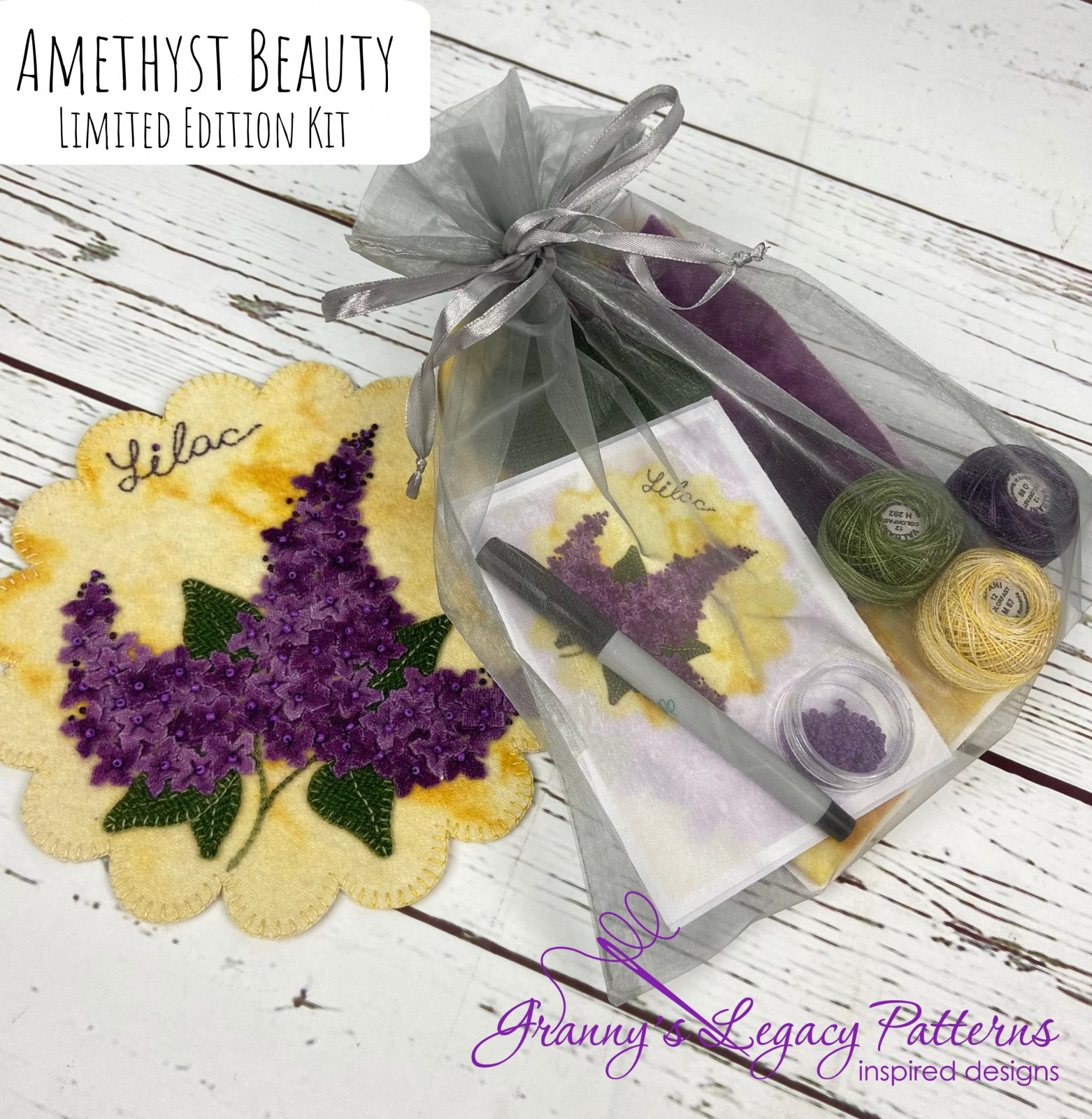 Note Cards: AMETHYST BEAUTY - 6 Pack