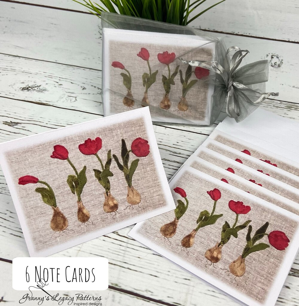 Note Cards: TULIP ROW - 6 Pack