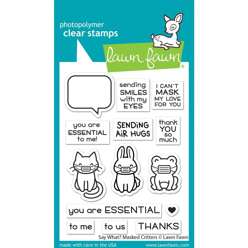 Say What? Masked Critters Stamps